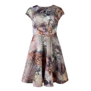 Ted baker sequin print prom dress